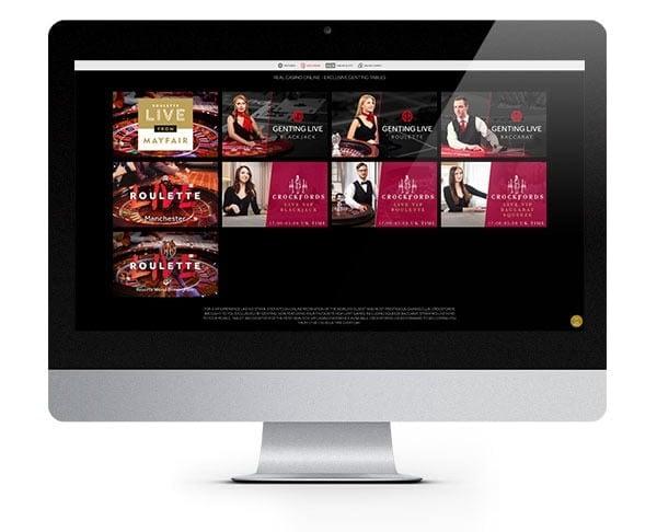 Genting Live casino screen