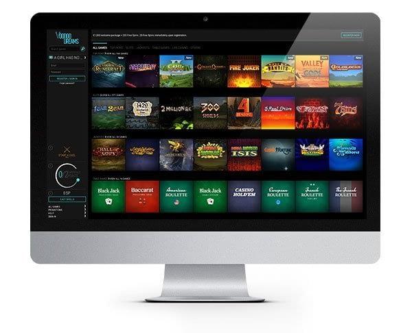 Voodoo Dreams Casino desktop
