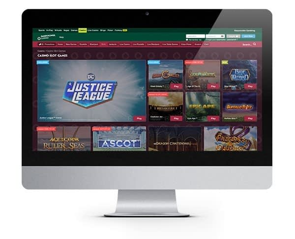 Paddy Power Casino desktop