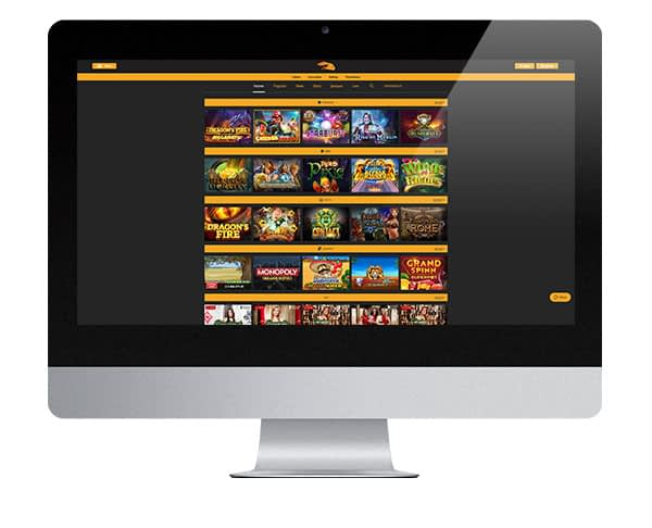 Snabbis Casino Desktop Lobby