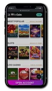 NextCasino mobile screen shot