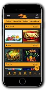 Snabbis Casino Mobile Lobby