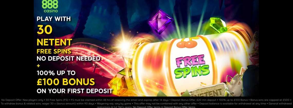 888 casino 30 free spins