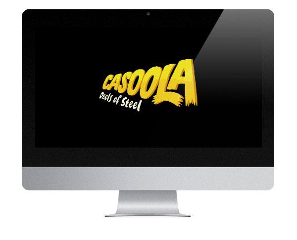 Casoola Casino logo on screen
