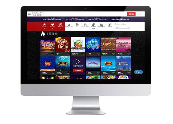 Captain Spins Casino desktop screenshot