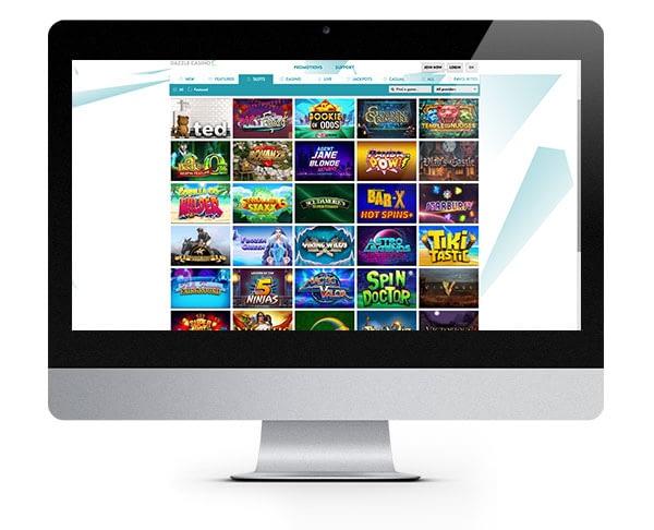Dazzle Casino desktop screenshot