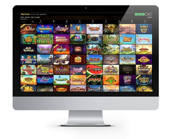 Bethard slots and games screen