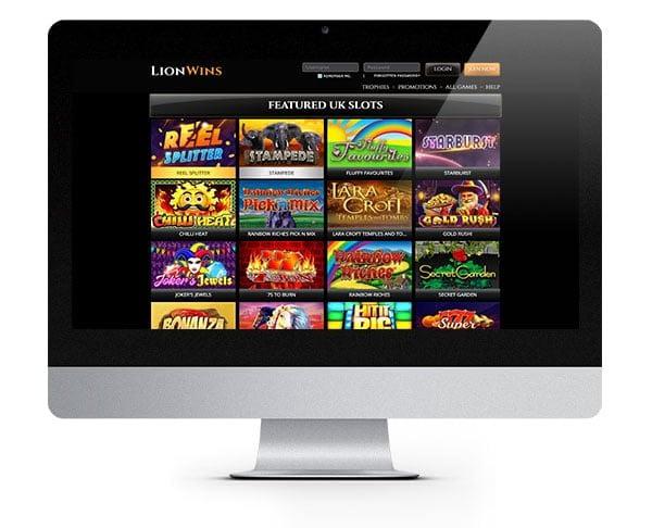 Lion Wins Casino lobby desktop