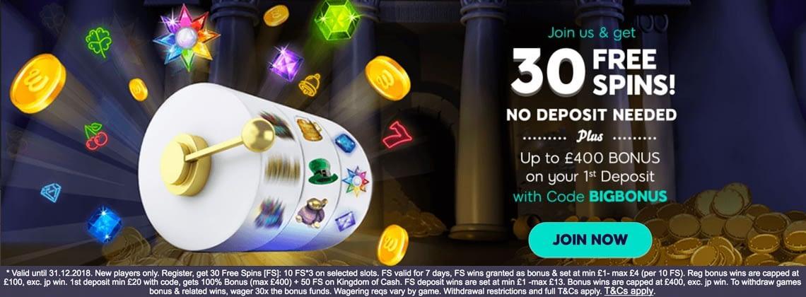 Wink Slots 30 no deposit free spins