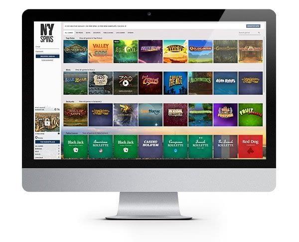 NYspins desktop casino