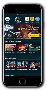 Grosvenor Casinos Bonus Cash - A screen shot of a smart phone