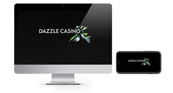 Dazzle Casino logos on mac and phone