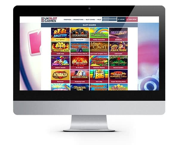 UK Slot Games lobby