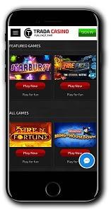 trada casino mobile slots