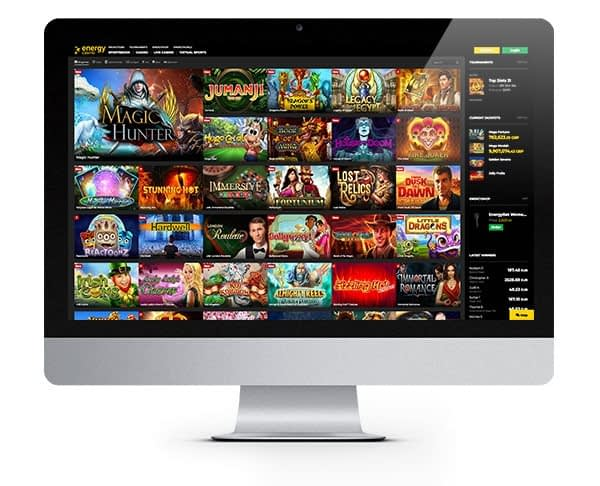 Energy Casino lobby desktop