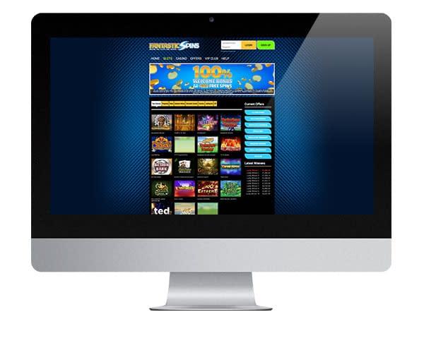 Fantastic Spins Casino desktop lobby