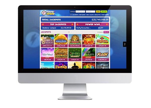 PowerSpins Casino desktop screenshot