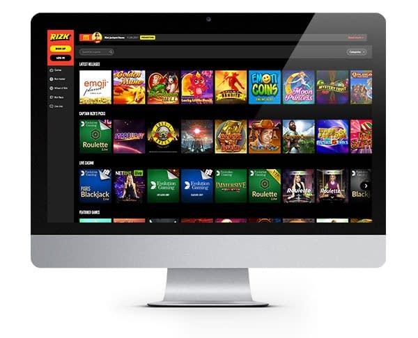 Rizk Casino screenshot lobby
