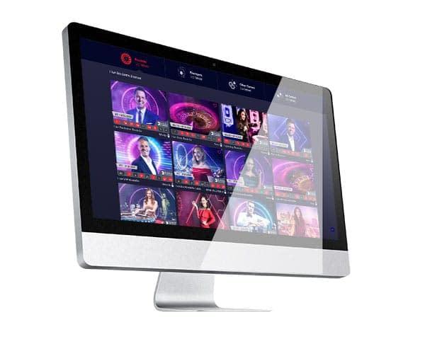 LiveRoulette Casino desktop lobby