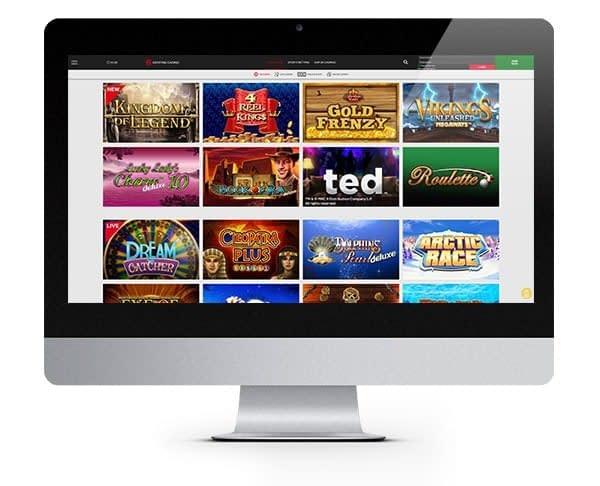 Genting Casino Home screen slots